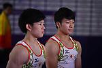 -R)  Kakeru Tanigawa  Shogo Nonomura (JPN), <br /> AUGUST 20, 2018 - Artistic Gymnastics : Men's Individual All-Around at JIEX Kemayoran Hall D during the 2018 Jakarta Palembang Asian Games <br /> in Jakarta, Indonesia. <br /> (Photo by MATSUO.K/AFLO SPORT)