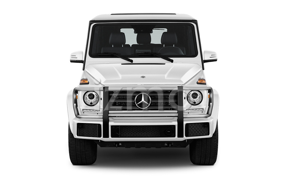 Car photography straight front view of a 2018 Mercedes Benz G-Class G550 5 Door SUV