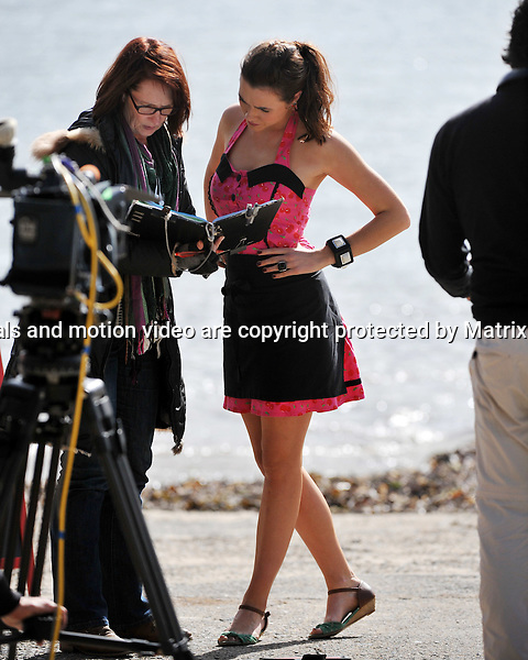20th August, 2014 SYDNEY AUSTRALIA<br /> EXCLUSIVE <br /> Pictured, Demi Harman and Alec Snow of Home and Away doing scenes at  Palm Beach  and the Barrenjoey Boat Hire.<br /> <br /> *No internet without clearance*.MUST CALL PRIOR TO USE +61 2 9211-1088. Matrix Media Group.Note: All editorial images subject to the following: For editorial use only. Additional clearance required for commercial, wireless, internet or promotional use.Images may not be altered or modified. Matrix Media Group makes no representations or warranties regarding names, trademarks or logos appearing in the images.