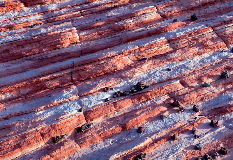 Close up of striated rocks. Valley of Fire State Park, Nevada