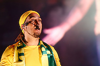 SAO PAULO, 30 DE JUNHO DE 2013. SHOW BELO  - CONCENTRA SP - VALE DO ANHANGABAU. O Cantor Belo  durante apresentação no evento Concentra SP. O cantor se apresentou após jogo Brasil e Espanha , no Vale do Anhangabaú. FOTO ADRIANA SPACA / BRAZIL PHOTO PRESS.