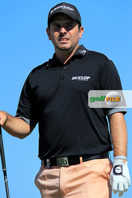 Thomas Aiken (RSA) on the 1st tee during Friday's Round 2 of the 2013 Portugal Masters held at the Oceanico Victoria Golf Club. 11th October 2013.<br /> Picture: Eoin Clarke www.golffile.ie