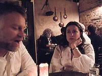 Dinner with Annuska, Yesenia, Scott, and me.  Williamsburg, New York