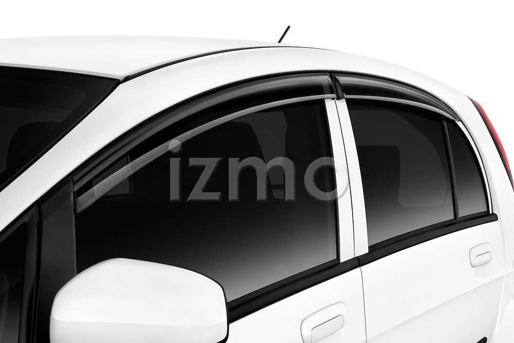 Driver side windows of a 2012 Mitsubishi MiEV ES