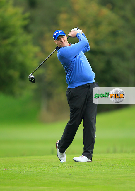 David Mortimer (Galway G.C) on the 16th tee during Round 3 of The Cassidy Golf 103rd Irish PGA Championship in Roganstown Golf Club on Saturday 12th October 2013.<br /> Picture:  Thos Caffrey / www.golffile.ie