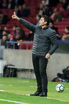 Leganes coach Asier Garitano during La Liga match between Atletico de Madrid and Leganes at Wanda Metropolitano Stadium in Madrid , Spain. February 28, 2018. (ALTERPHOTOS/Borja B.Hojas)