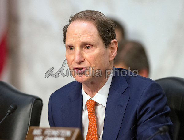 United States Senator Ron Wyden (Democrat of Oregon) questions witnesses during an open hearing held by the US Senate Select Committee on Intelligence to examine worldwide threats on Capitol Hill in Washington, DC on Tuesday, February 9, 2016. Photo Credit: Ron Sachs/CNP/AdMedia