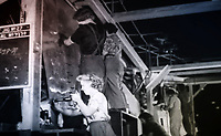 BNPS.co.uk (01202 558833)<br /> Pic: SecretSpitfires/BNPS<br /> <br /> 'Riveter girls' hard at work on a Spitfire wing - amazingly 10 per cent of the wartime population of Salisbury signed the official secrets act and worked on the top secret project.<br /> <br /> A campaign to build a memorial to honour the women and children who built over 2,000 Spitfires in secret to help win the Second World War has been launched.<br /> <br /> The little-known operation involved just a few hundred people who operated in requisitioned car garages, factories and workshops in the city of Salisbury.<br />  <br /> They built the legendary aircraft in piecemeal and worked with such discretion that the Wiltshire city's inhabitants were oblivious to it. <br /> <br /> The unsung workers were so prolific they accounted for one tenth of all Spitfires produced during the war.
