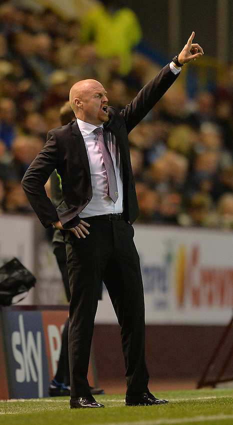 Burnley's Manager Sean Dyche does his best Saturday Night Fever pose<br /> <br /> Photographer Dave Howarth/CameraSport<br /> <br /> Football - The Football League Sky Bet Championship - Burnley v Milton Keynes Dons - Tuesday 15th September 2015 - Turf Moor - Burnley<br /> <br /> &copy; CameraSport - 43 Linden Ave. Countesthorpe. Leicester. England. LE8 5PG - Tel: +44 (0) 116 277 4147 - admin@camerasport.com - www.camerasport.com
