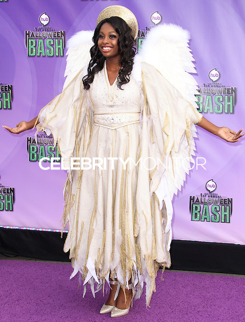 SANTA MONICA, CA - OCTOBER 20: Actress Coco Jones arrives at Hub Network's 1st Annual Halloween Bash held at Barker Hangar on October 20, 2013 in Santa Monica, California. (Photo by Xavier Collin/Celebrity Monitor)