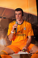 Real Madrid´s Gareth Bale during the official presentation of the Adidas team´s football kit for the 2013-14 Champions League season in Europe tower, Madrid. September 12, 2013. (ALTERPHOTOS/Victor Blanco) /NortePhoto.com