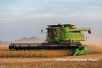 63801-07916 Soybean Harvest John Deere combine Marion Co. IL