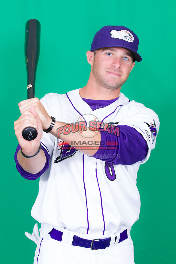 Winston-Salem Dash outfielder Adam Heisler (6) poses for photos during Media Day at BB&T Ballpark on April 1, 2014 in Winston-Salem, North Carolina (Brian Westerholt/Four Seam Images)