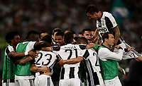 Calcio, Tim Cup: finale Juventus vs Lazio. Roma, stadio Olimpico, 17 maggio 2017.<br /> Juventus' Dani Alves, third from left, celebrates with teammates after scoring during the Italian Cup football final match between Juventus and Lazio at Rome's Olympic stadium, 17 May 2017.<br /> UPDATE IMAGES PRESS/Isabella Bonotto