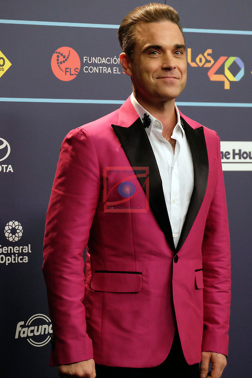 Los 40 MUSIC Awards 2016 - Photocall.<br /> Robbie Williams.