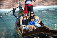 ***FILE PHOTO*** ANTONIO SABATO JR FORMALLY ANNOUNCES HE'S RUNNING FOR CONGRESS<br /> LAS VEGAS, NV - May 24, 2016: ***EXCLUSIVE*** Antonio Sabato Jr. seen with his wife Cheryl Moana Marie and their son Antonio Kamakanaalohamaikalani Harvey Sabato III on a Gondola ride at The Venetian Las Vegas  in Las vegas, NV on May 24, 2016. <br /> CAP/MPI/EKP<br /> &copy;EKP/MPI/Capital Pictures