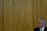 BRASÍLIA, DF, 24.04.2017 – TEMER-DF – O presidente Michel Temer durante visita do Presidente de Governo da Espanha, Mariano Rajoy no Palácio do Planalto em Brasíia, nesta segunda-feira, 24.  (Foto: Ricardo Botelho/Brazil Photo Press)