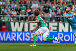 01.09.2019, wohninvest WESERSTADION, Bremen, GER, 1.FBL, Werder Bremen vs FC Augsburg<br /> <br /> DFL REGULATIONS PROHIBIT ANY USE OF PHOTOGRAPHS AS IMAGE SEQUENCES AND/OR QUASI-VIDEO.<br /> <br /> im Bild / picture shows<br /> Tor 2:1, <br /> Joshua Sargent (Werder Bremen #19), <br /> <br /> Foto © nordphoto / Ewert