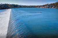 Schuylkill, River, Waterfall, Boat House Row, Phila, PA
