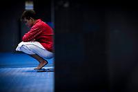 HE Chao CHN silver medal<br /> Diving<br /> Men's 1m springboard final<br /> 16/07/2017 <br /> XVII FINA World Championships Aquatics<br /> Duna Arena<br /> Photo @ Giorgio Perottino/Deepbluemedia/Insidefoto