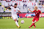 Mohammadhossein Kanani Zadeghan of Iran (L) competes for the ball with Nguyen Van Toan of Vietnam during the AFC Asian Cup UAE 2019 Group D match between Vietnam (VIE) and I.R. Iran (IRN) at Al Nahyan Stadium on 12 January 2019 in Abu Dhabi, United Arab Emirates. Photo by Marcio Rodrigo Machado / Power Sport Images