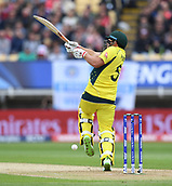 June 10th 2017, Edgbaston, Birmingham, England;  ICC Champions Trophy Cricket, England versus Australia; Aaron Finch of Australia miss hits a short ball