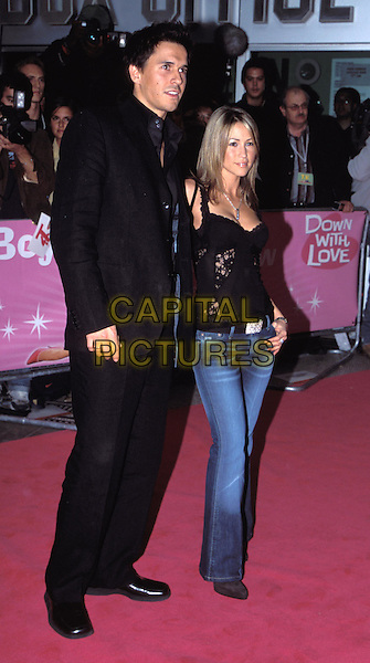 JEREMY EDWARDS & RACHEL STEVENS.Down With Love UK premiere, Odeon Kensington.full length, full-length.www.capitalpictures.com.sales@capitalpictures.com.© Capital Pictures.