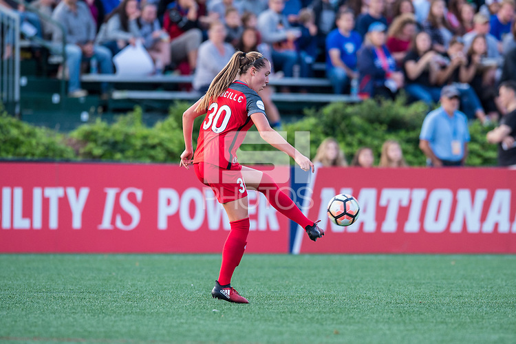 Boston, MA - Sunday September 10, 2017: Celeste Boureille during a regular season National Women's Soccer League (NWSL) match between the Boston Breakers and Portland Thorns FC at Jordan Field.