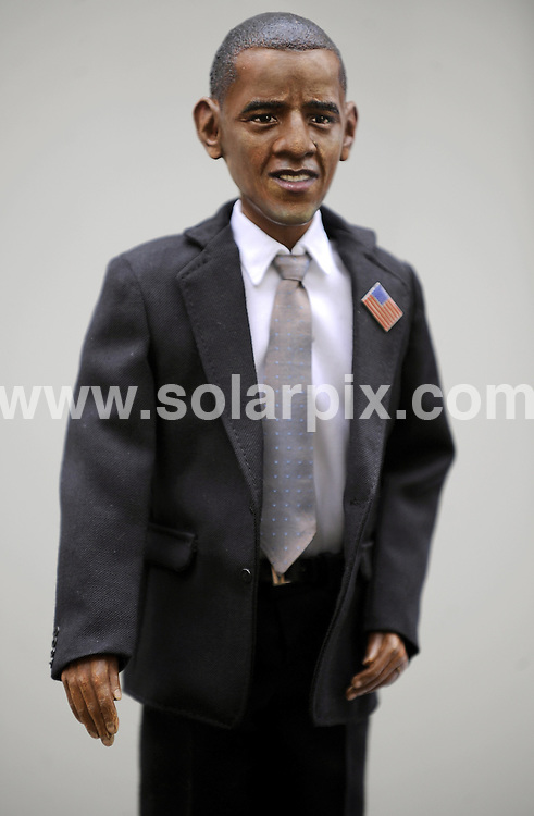 "**ALL ROUND PICTURES FROM SOLARPIX.COM**.**SYNDICATION RIGHTS FOR UK AND SPAIN ONLY**.At the ""Puppenklinik"" (Doll hospital) in the German town of Neuss a handmade Barack Obama doll is shown. 333 dolls will be produced for sale. Nuess, Germany. 5th November 2008..JOB REF: 7802 CPR (Hartman/dfd) DATE: 05_11_2008.**MUST CREDIT SOLARPIX.COM OR DOUBLE FEE WILL BE CHARGED* *UNDER NO CIRCUMSTANCES IS THIS IMAGE TO BE REPRODUCED FOR ANY ONLINE EDITION WITHOUT PRIOR PERMISSION*"