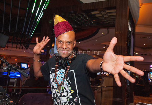 LAS VEGAS, NV - April 9, 2016: ***HOUSE COVERAGE*** Angelo Moore of Fishbone DJ set at The Center Bar at Hard Rock Hotel & Casino in Las vegas, NV on April 9, 2016. Credit: GDP Photos/ MediaPunch