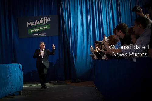 Terry McAuliffe, Democratic nominee in the 2013 Virginia gubernatorial election, campaigns at an event at Washington-Lee High School, Arlington, Virginia, U.S., on Sunday, November 3, 2013. <br /> Credit: Pete Marovich / Pool via CNP