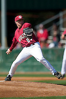 South Carolina starting pitcher Blake Cooper (27) in action versus LSU at Sarge Frye Stadium in Columbia, SC, Thursday, March 18, 2007.