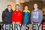 Brendan O'Sullivan, Darragh Sweeney, Daniel Taylor, Enis Devos from Kenmareat the opening night of the Mercy Mounthawk students' performance of 'The Plough And The Stars' at Siamsa Tíre on Thursday.