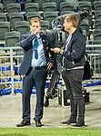 Stockholm 2015-05-25 Fotboll Allsvenskan Djurg&aring;rdens IF - AIK :  <br /> Djurg&aring;rdens s&auml;kerhetsansvarige Mats Jonsson intervjuas efter matchen mellan Djurg&aring;rdens IF och AIK <br /> (Foto: Kenta J&ouml;nsson) Nyckelord:  Fotboll Allsvenskan Djurg&aring;rden DIF Tele2 Arena AIK Gnaget