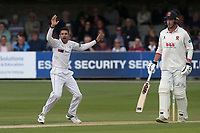 Keshav Maharaj of Yorkshire appeals for the wicket of Alastair Cook during Essex CCC vs Yorkshire CCC, Specsavers County Championship Division 1 Cricket at The Cloudfm County Ground on 7th July 2019