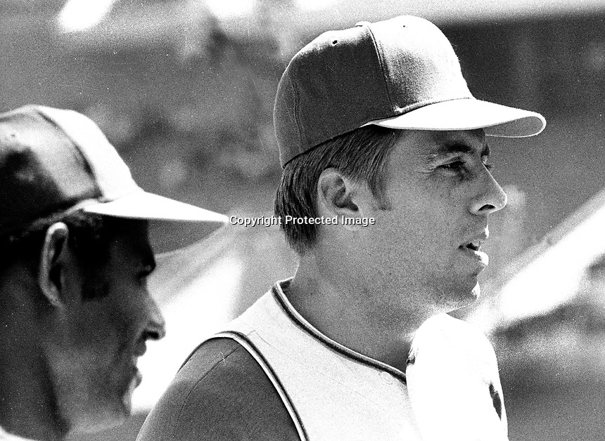 Oakland Athletics center fielder Rick Monday (1971 photo/Ron Riesterer)