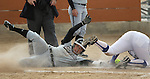 College of Southern Idaho's Kylee Hogue slides safely into home past the tag of Western Nevada College's Jordan Garcia during a college softball game in Carson City, Nev., on Friday, March 16, 2012. CSI defeated WNC 12-3, 11-3 and 14-0. The teams will face off Saturday, March 17 at noon at Edmonds Sports Complex in Carson, weather permitting..Photo by Cathleen Allison/Nevada Photo Source