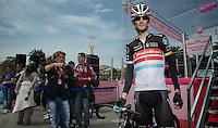 Giro d'Italia stage 13.Savano-Cervere: 121km..Fra?nk Schleck before the race