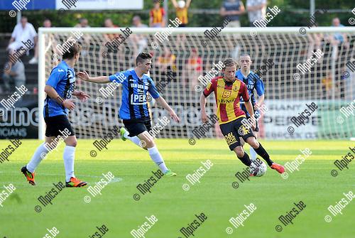 2013-07-06 / Voetbal / seizoen 2013-2014 / Rupel-Boom - KV Mechelen / Bjorn Cornelissen (l. Rupel-Boom) met Mats Rits<br /><br />Foto: Mpics.be