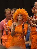 15-sept.-2013,Netherlands, Groningen,  Martini Plaza, Tennis, DavisCup Netherlands-Austria, fourth rubber,  Dutch supporter <br />