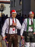 Schn&ouml;ller beim Aufzug der Masken beim Nassereither Schellerlauf, Fasnacht in Nassereith, Bezirk Imst, Tirol, &Ouml;sterreich, Europa, immaterielles UNESCO Weltkulturerbe<br /> Schn&ouml;ller at the gathering of the masks, Nassereither Schellerlauf-Fasnacht, Nassereith, Tyrol, Austria Europe, Intangible World Heritage