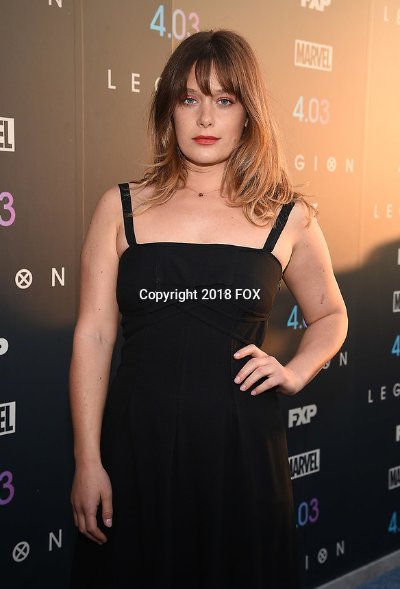 "LOS ANGELES, CA - APRIL 2: Rachel Keller attends the season two premiere of FX's ""Legion"" at the DGA Theater on April 2, 2018 in Los Angeles, California. (Photo by Frank Micelotta/FX/PictureGroup)"