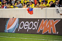 Pepsi. The men's national team of the United States (USA) was defeated by Ecuador (ECU) 1-0 during an international friendly at Red Bull Arena in Harrison, NJ, on October 11, 2011.