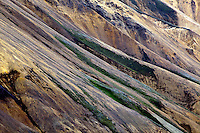 Pattern in volcanic mountain slope, Iceland