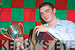 Conor Moriarty, Kilcummin, who won the All Ireland Senior melodeon finals in the Fleadh Cheoil na hE?ireann in Tullamore recently.NO FEE..........