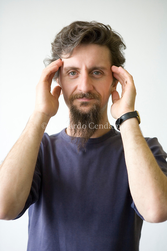 Turin, Italy, 2007. Ascanio Celestini, Italian theatre actor, writer and playwright.
