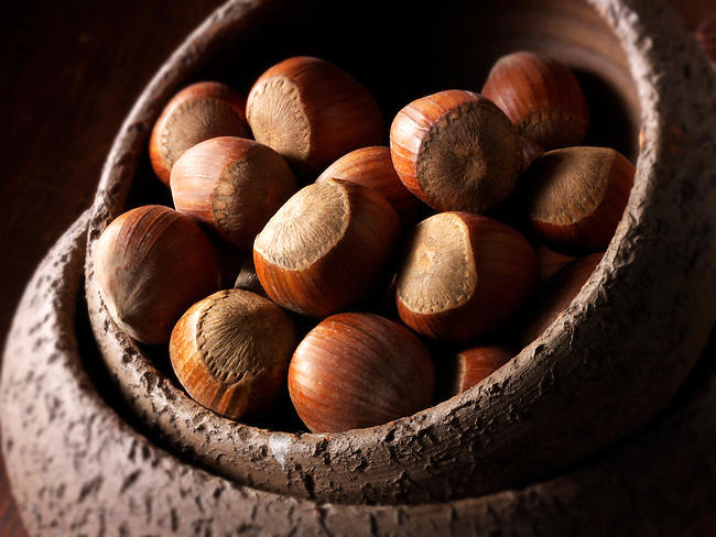 Whole Hazelnuts stock photos