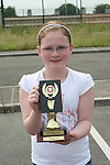 Niamh Cunningham who won a trophy for Best Attendance at the Moneymore After School Club Awards...Photo NEWSFILE/Jenny Matthews.(Photo credit should read Jenny Matthews/NEWSFILE)....This Picture has been sent you under the condtions enclosed by:.Newsfile Ltd..The Studio,.Millmount Abbey,.Drogheda,.Co Meath..Ireland..Tel: +353(0)41-9871240.Fax: +353(0)41-9871260.GSM: +353(0)86-2500958.email: pictures@newsfile.ie.www.newsfile.ie.FTP: 193.120.102.198.