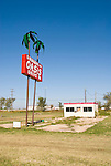 Oasis Drive In sign: 5 burgers $1.00 along Old Route 66 near El Reno, Okla.