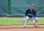 22 June 2017: Vermont Lake Monsters infielder Jesus Lage in action against the Brooklyn Cyclones at Centennial Field in Burlington, Vermont. The Lake Monsters fell to the Cyclones 5-3 in NY Penn League action. Mandatory Credit: Ed Wolfstein Photo *** RAW (NEF) Image File Available ***
